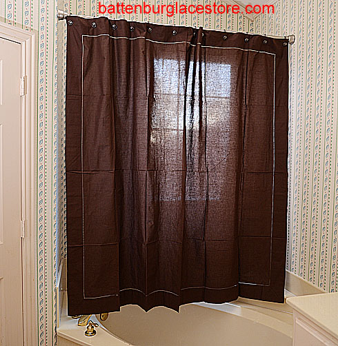 Shower Curtain French Roast color.